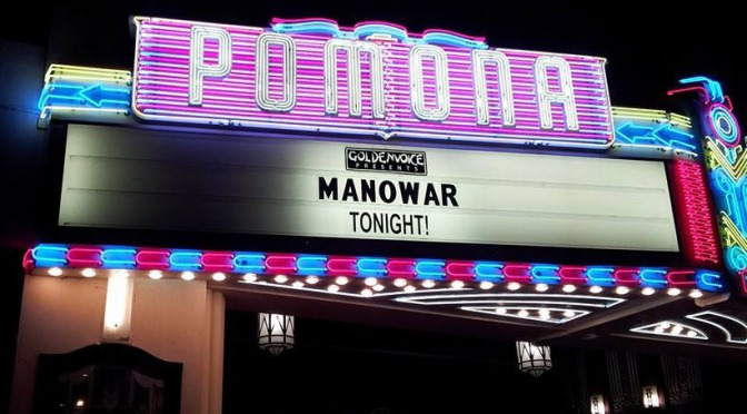 MANOWAR Kill With Power At The Fox Theater In Pomona, California