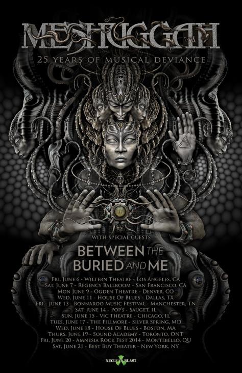 MESHUGGAH 2014 Tour Admat with BTBAM