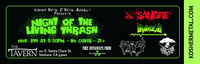 Kosher Metal and Metal Assault Presents: NIGHT OF THE LIVING THRASH